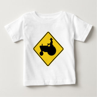 Funny Farm Tractor Road Sign Warning T Shirt