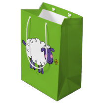 funny farm woolly sheep medium gift bag