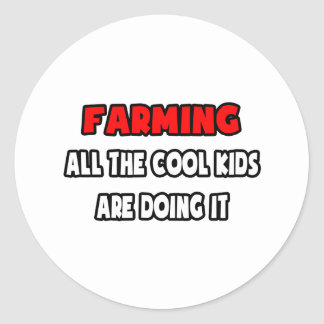 Funny Farmer Shirts and Gifts Classic Round Sticker