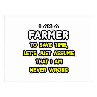 Funny Farmer T-Shirts and Gifts Postcard