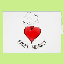 Funny Fart Heart Card