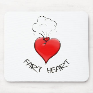 Funny Fart Heart Mouse Pad