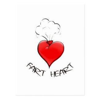 Funny Fart Heart Postcard