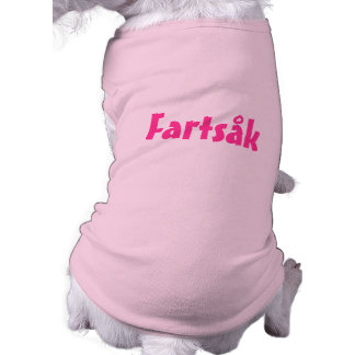 Funny fart sack doggy t-shirt Pet Clothing Dog Tee