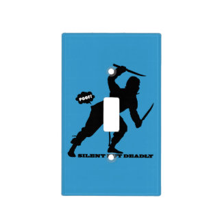 funny farting ninja silent but deadly light switch cover