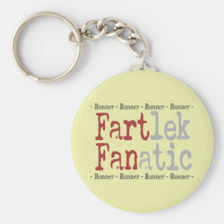 Funny FARTlek FANatic © Runner Basic Round Button Keychain