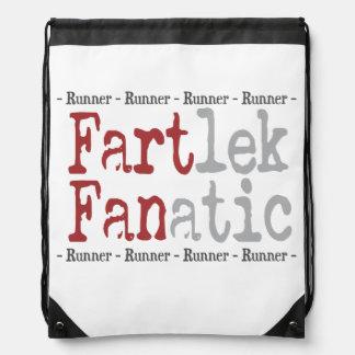 Funny FARTlek FANatic © Runner Drawstring Bag