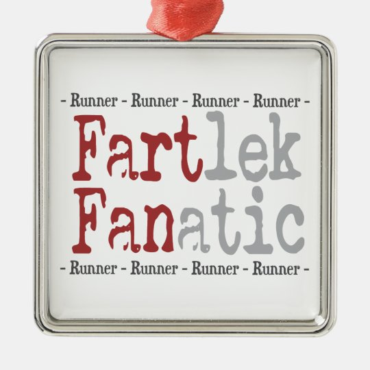 Funny FARTlek FANatic © Runner Metal Ornament