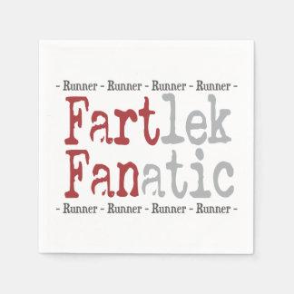 Funny FARTlek FANatic © Runner Standard Cocktail Napkin
