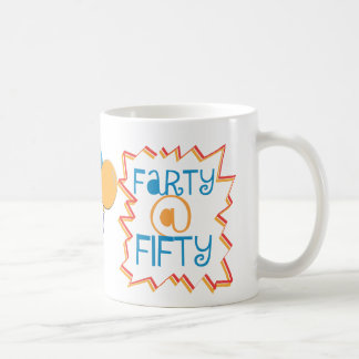 Funny Farty at Fifty 50th Birthday Gag Gift Coffee Mug