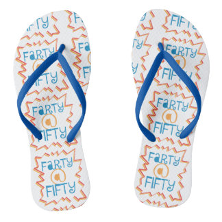 Funny Farty at Fifty 50th Birthday Gag Gift Flip Flops