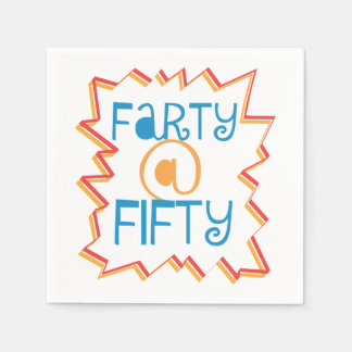 Funny Farty at Fifty 50th Birthday Gag Gift Napkin
