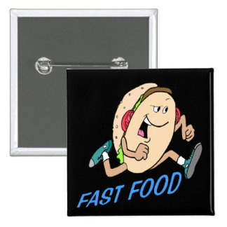 Funny Fast Food T-shirts Gifts 2 Inch Square Button