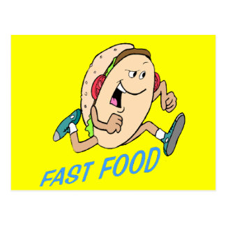 Funny Fast Food T-shirts Gifts Postcard