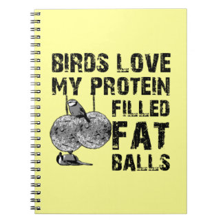 Funny fat balls notebooks