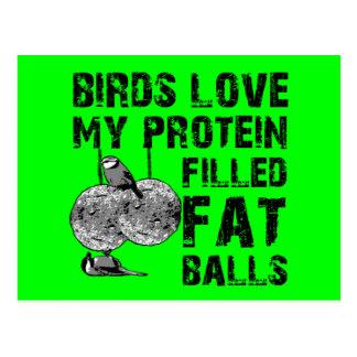 Funny fat balls postcard