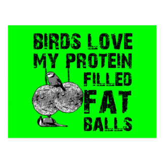 Funny fat balls postcards