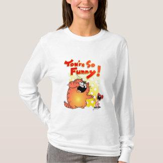 Funny Fat Cartoon Cat + Mouse | Fat Cartoon Cat T-Shirt