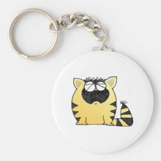 Funny Fat Cat Keychain
