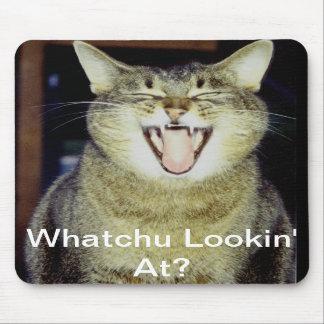 Funny Fat Cat Mousepad