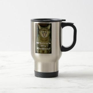 Funny Fat Cat Travel Mug
