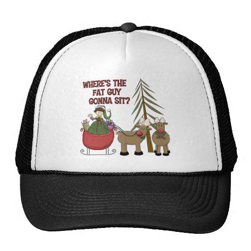 Funny fat guy christmas baseball cap hat zazzle