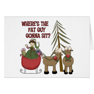 Funny Fat Guy Christmas Card