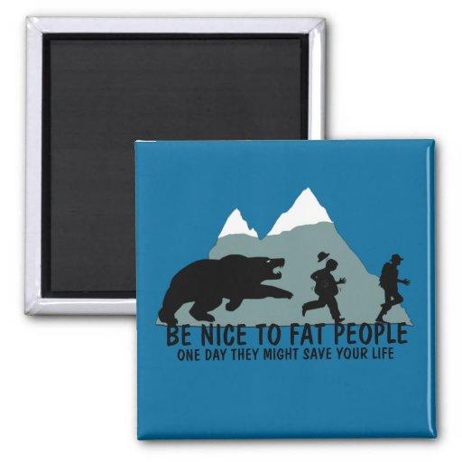 Funny fat joke 2 inch square magnet