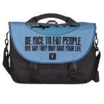 Funny fat joke bags for laptop