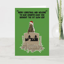 Funny fat joke Christmas Holiday Card