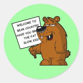 Funny fat joke classic round sticker