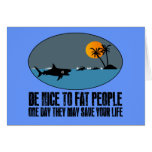 Funny fat joke greeting card
