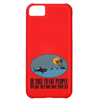 Funny fat joke iPhone 5C case