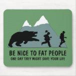 Funny fat joke mouse pads