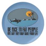 Funny fat joke party plates