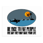 Funny fat joke post cards