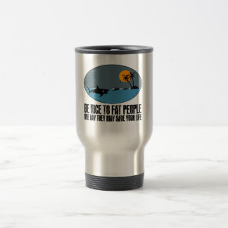 Funny fat joke travel mug