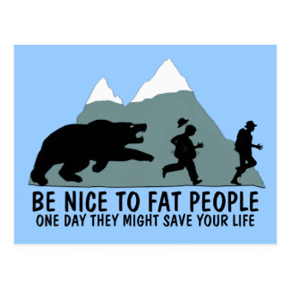 Funny fat kid postcard