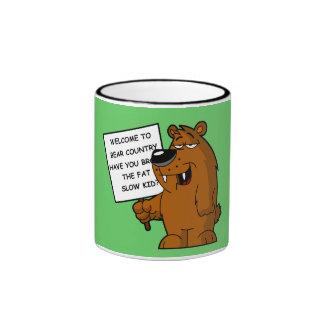 Funny fat kid ringer mug