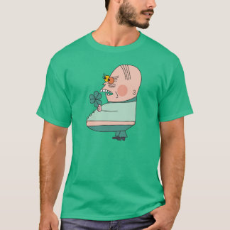Funny Fat Man with Green Shamrock Mens T-Shirt