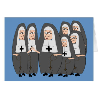 "Funny ""Fat Nuns"" Gifts for any occasion Card"