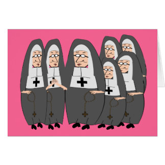 """Funny """"Fat Nuns"""" Gifts for any occasion Greeting Card"""