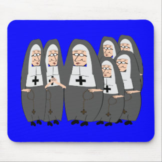 """Funny """"Fat Nuns"""" Gifts for any occasion Mouse Pad"""