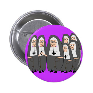 """Funny """"Fat Nuns"""" Gifts for any occasion Pinback Button"""