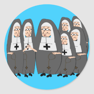 """Funny """"Fat Nuns"""" Gifts for any occasion Sticker"""