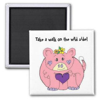 Funny Fat Pig Magnet