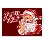 Funny Fat Santa Card