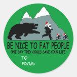Funny fat Santa gift Stickers