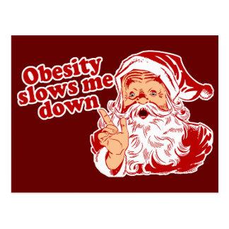 Funny Fat Santa Postcard