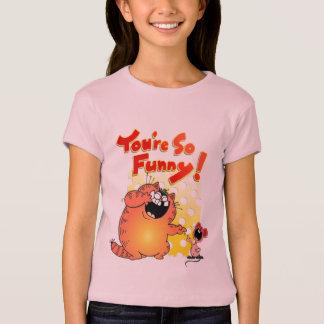 Funny Fat Yellow Cartoon Cat | Funny Fat Cat T-Shirt